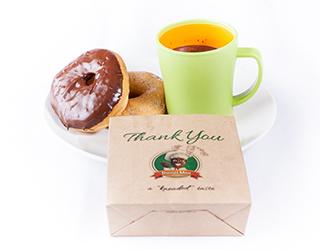 Dough Man Mug and Doughnuts