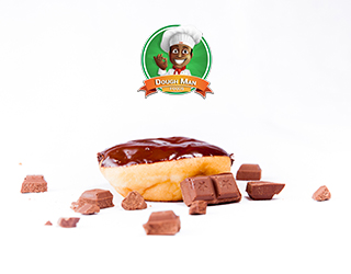 Dough Man Doughnut : Simply Choco with Scattered Chocolate Pieces